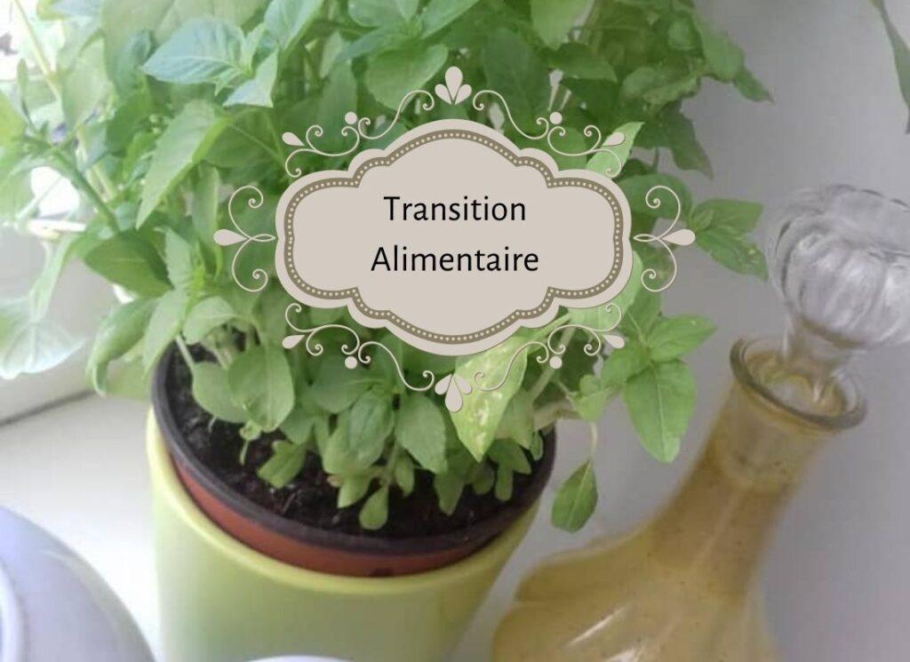 basilic frais et sa sauce verte pour salade, transition alimentaire
