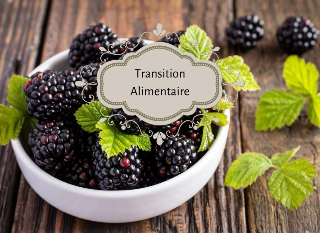 crumble mûres et poire, transition alimentaire, vivre ma vraie nature