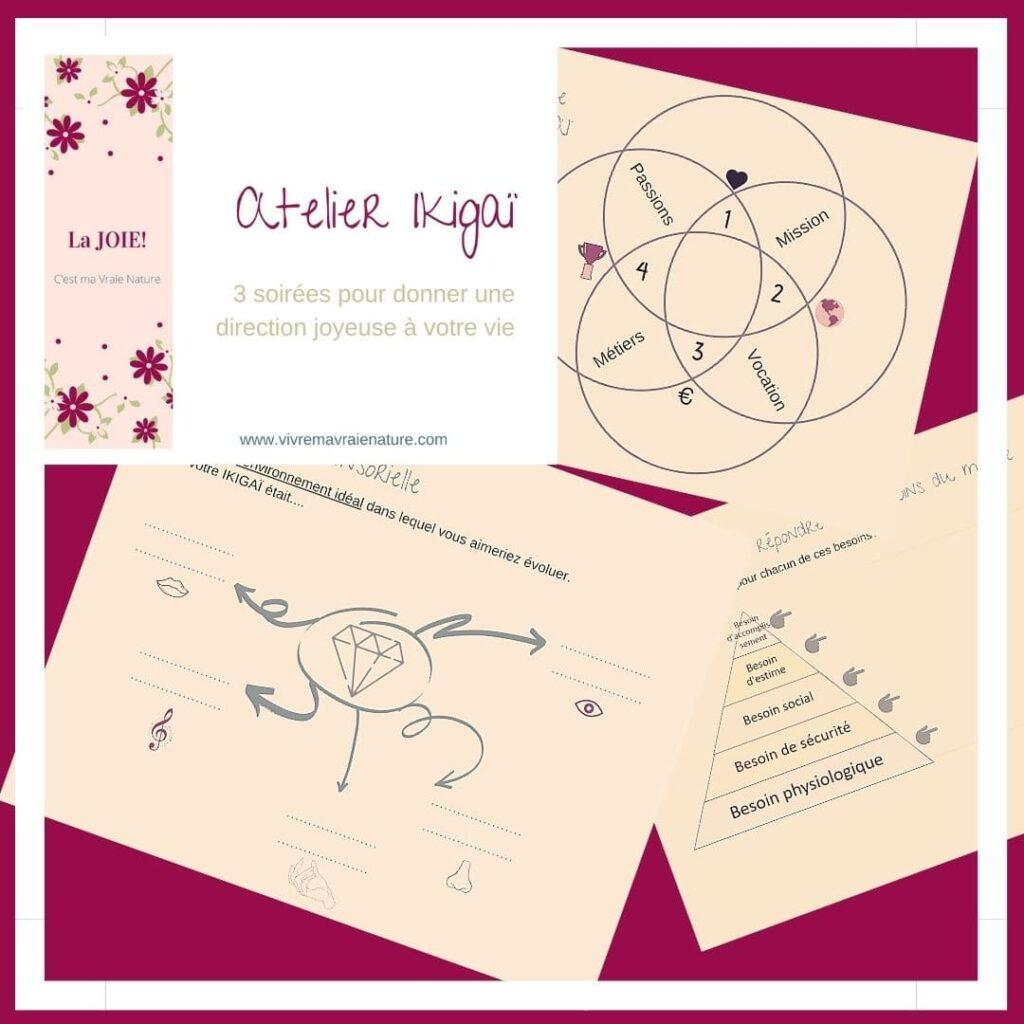 atelier ikigaï, vivre ma vraie nature, être soi et authentique