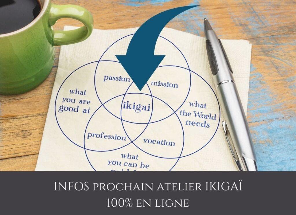 4 étapes d'une transition de vie réussie, infos atelier ikigaï