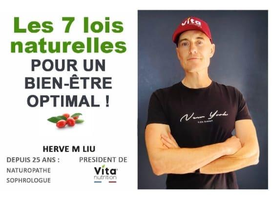 Hervé M Liu, vitanutrition, les 7 lois naturelles pour un bien être optimal, webinaire vitalité, vivre ma vraie nature