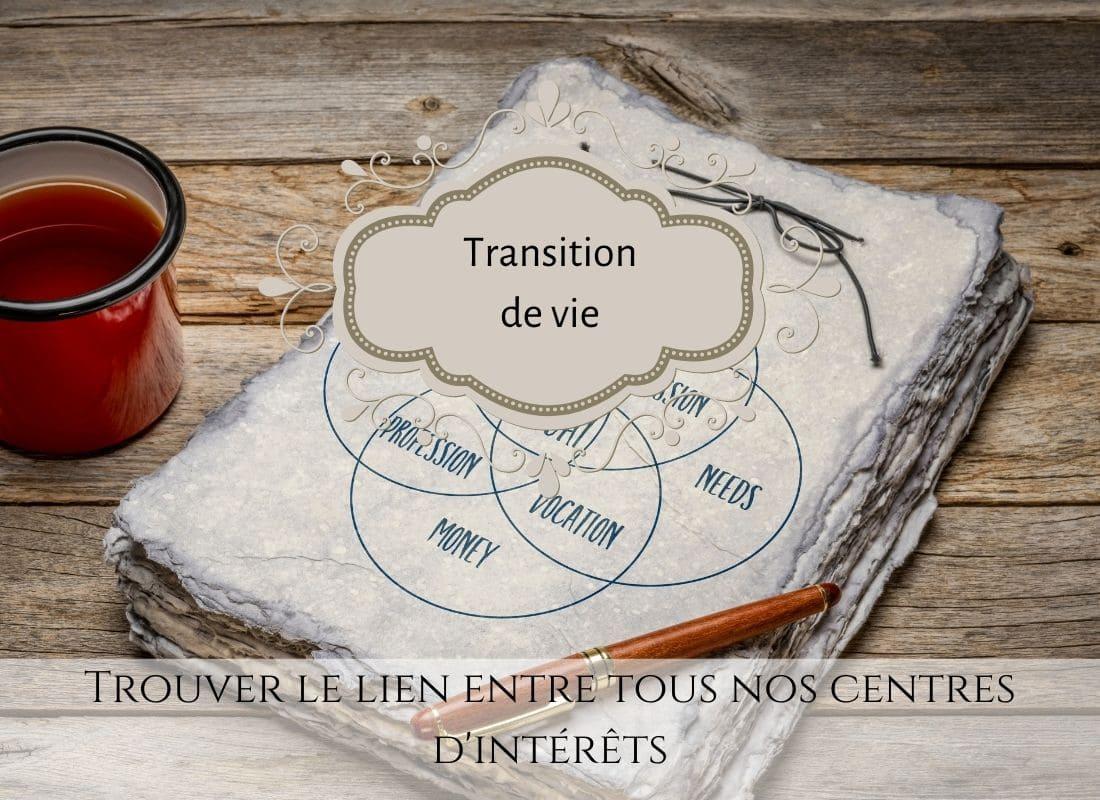 Trouver le lien entre tous nos centres d'intérêts, ikigaï, vivre ma vraie nature, trouver sa voie, reconversion professionnelle, transition de vie, atelier ikigaï